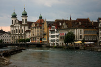 Lucerne, Covered Bridge, View of River0942641