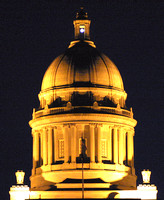 Frankfort, Capitol Dome, Night129-2938a