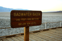 Death Valley NP, Badwater, Sign0748714