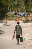 Maracas, Beach, Fisherman on Beach 152-0213