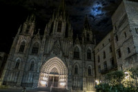Barcelona, Cathedral, Night139-0043