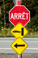 NH Quebec Border, Stop Sign V150-8699