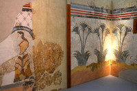 Santorini, Fira, Archeological Mus, Frescoes1017540a