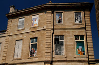 Avignon, Bldg w Window Murals0932934a