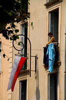 Antibes, Hanging Clothes on Balcony V1032761