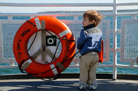 Marthas Vineyard Ferry, Boy and Life Ring112-2716