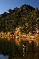 Estes Park, Lily Lake, Fisherman V0829638