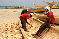 Elmina, Fishing Village, Boat Making120-5661
