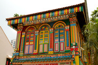 Singapore, Little India, Painted Bldg120-8217
