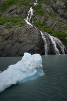 Portage Lake, Waterfall and Ice V0575711