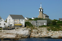 Buildings on Rocky Shore of Star Island, Isles of Shoals