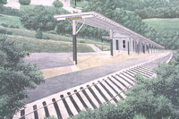 Clarksville, Mural, Train Station140-4088a