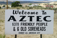 Aztec, Welcome Sign030629-3064