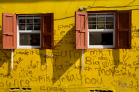 Roseau, Yellow Wall, Grafitti120-4318