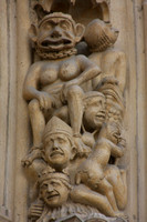 Paris, Notre Dame Cathedral, Facade, Detail V0940305