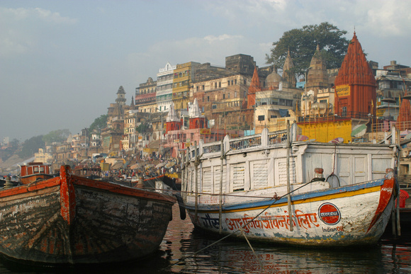 Varanasi, India, Ghats on the Ganges