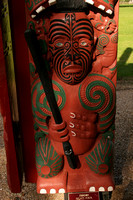 Waitangi, Canoe House Carving V0735159