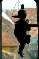 Sighisoara, Clock Tower, Figurine, V031001-1156