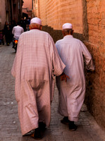 Marrakesh, Medina, Souks, Men Walking V131-9045