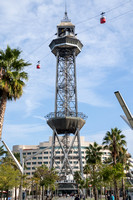 Barcelona, Cable Car Tower V151-2551
