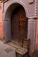 Marrakesh, Medina, Souk, Doorway V131-9048